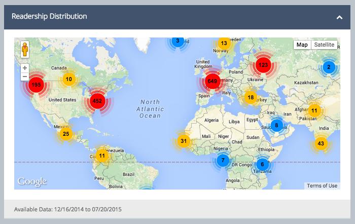 author dash map - bepress on