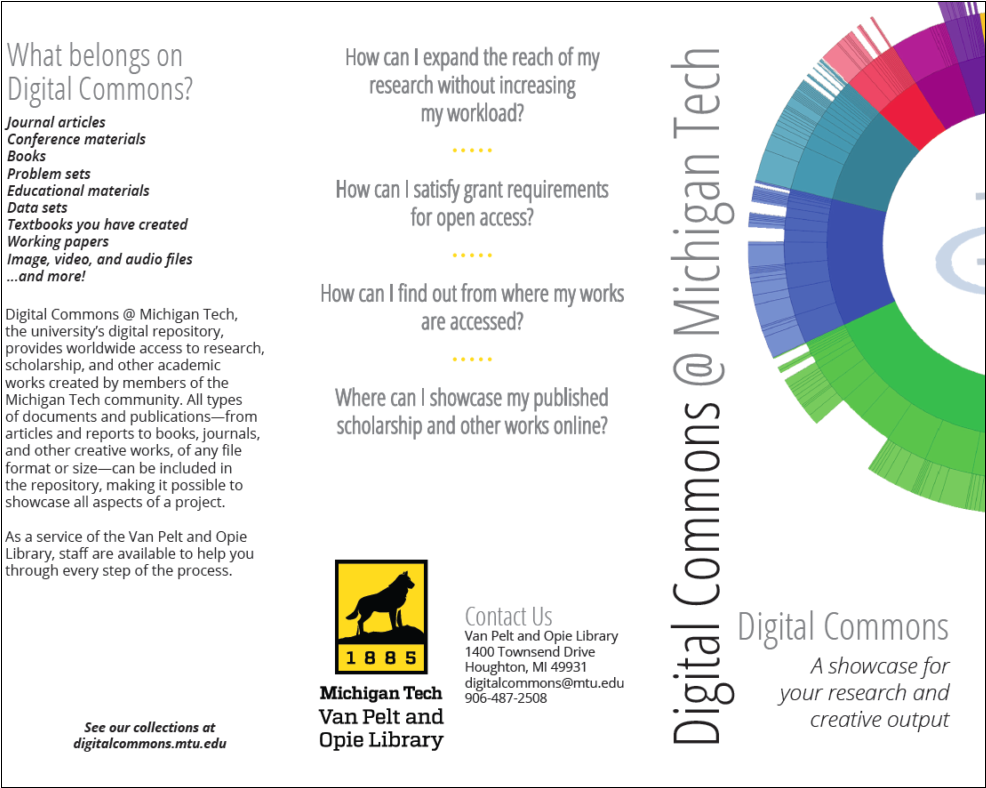 michigan tech s outreach flyers promote increased impact for faculty